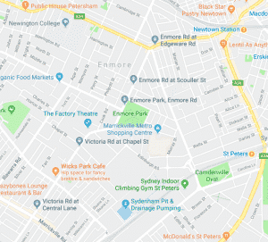 map of enmore park marrickville nsw